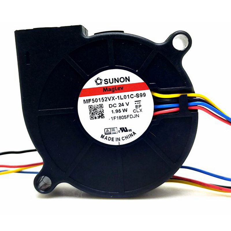 50mm Blower New For Sunon MF50152VX-1L01C-Q99 MF50152VX-1L01C-s99 5015 DC 24v 1.95W PWM Blower Cooling Fan 50*15MM