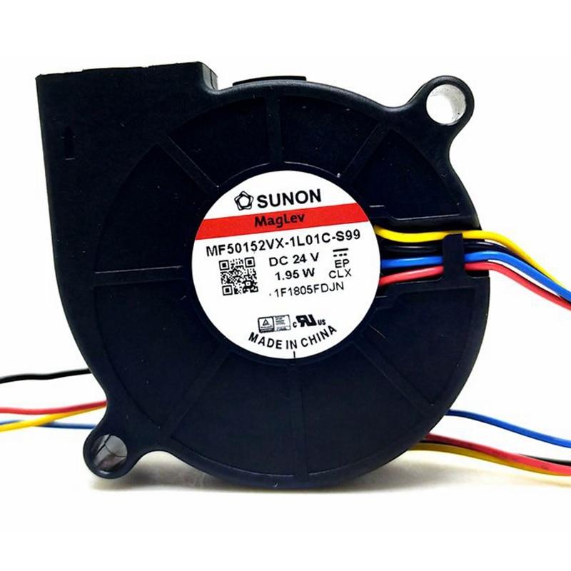 50mm Blower New Sunon MF50152VX-1L01C-Q99 MF50152VX-1L01C-s99 5015 DC 24v 1.95W PWM Blower Cooling Fan 50*15MM