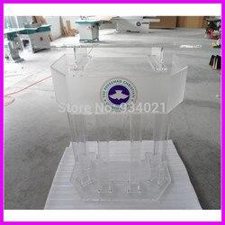Clear Grote Plexiglas Pudium/Acryl Hoogwaardige Katheder plexiglas-in School sets van Meubilair op