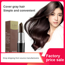 Tintura de cabelo descartável que cobre o tipo branco do batom do cabelo da planta pura tintura de cabelo instantânea cobertura cinzenta da raiz cor do cabelo tslm1