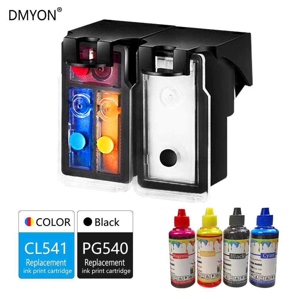 DMYON Refillable Ink Cartridge PG-540XL CL-541XL Replacement For Canon PG540 CL541 For Pixma MG4250 MX375 MX395 MX435 MX455 475