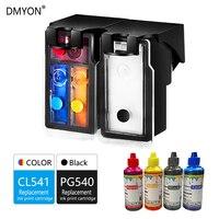 DMYON doldurulabilir mürekkep kartuşu PG 540XL CL 541XL değiştirme Canon için Canon PG540 CL541 Pixma MG4250 MX375 MX395 MX435 MX455 475|ink cartridge|refillable ink cartridgesrefillable cartridges -