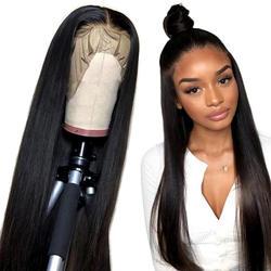 Alibele прямые кружевные передние человеческие волосы парики 150% перуанский парик из волос для черных женщин 10-24 дюймов 13x4 кружева средний