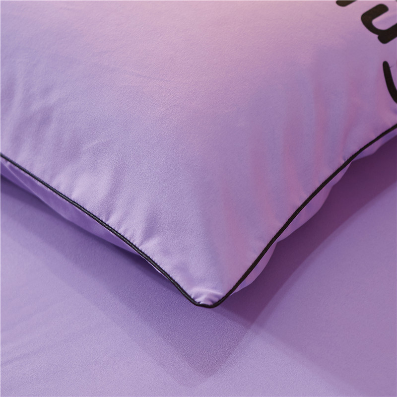 Solid Color Cool Brushed Fitted Sheet Four-piece Suit Simple Mattress Cover Plain Color Single Double Bed Bedding