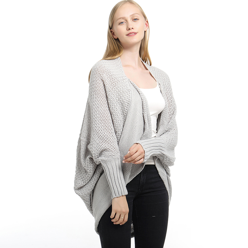 New Solid Cardigan Long Sleeve Knitted Sweater Women Open Stitch Casual Sweters Women Invierno 2019 Loose Cardigan Mujer