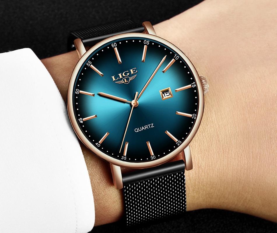 He56d75ffedea4ca3b44ef155044d7bd7l LIGE Fashion Mens Watches Top Brand Luxury Blue Waterproof Watches Ultra Thin Date Simple Casual Quartz Watch Men Sports Clock