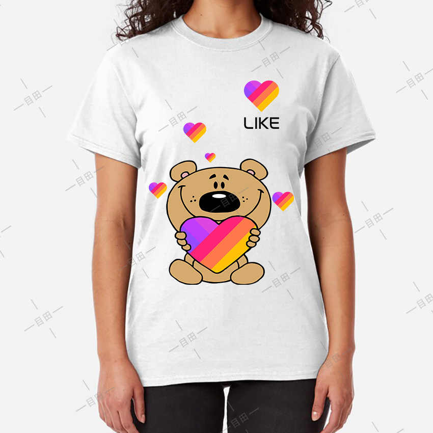 Likee app t-shirt likee cuore orso camicia 2019 cool t shirt divertente tee arcobaleno t-shirt