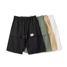 Summer Men Casual Shorts Beach Elastic Waist Shorts