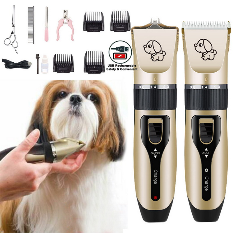 Rechargeable Low-noise Cat Dog Hair Trimmer Electrical Pet Hair Clipper Remover Cutter Grooming Pets Hair Cut Dropshipping