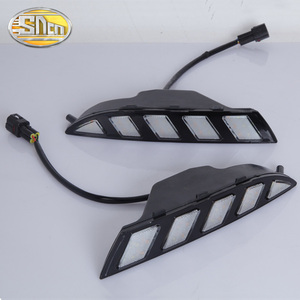 Image 2 - For Volkswagen Scirocco 2011 2012 2013 2014 2015 Yellow Turn Signal Relay Waterproof 12V Car LED DRL Daytime Running Light SNCN