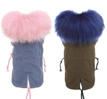 Winter Coat for Dogs Fleece Dog Parkas Teddy Warm Faux Fur Hood Overalls for Dogs  XS S M L XL