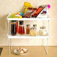 1 Pcs Storage Rack Shelf Kitchen Foldable Holder Organizer Stackable Shelf For Kitchen Bathroom Cupboard|Regale & Gestelle|Heim und Garten -
