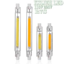 R7s led 118mm 78mm pode ser escurecido cob lâmpada tubo de vidro 200w 40w substituir halogênio lâmpada luz ac 110v 220v 230v 240v r7s spotlight