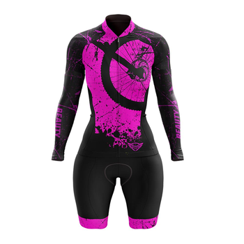 VEZZO-Mono de Triatlón de manga larga para mujer, maillot de ciclismo de...