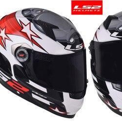LS2 FF358 klasyczne Capacetes de Motociclista kask motocyklowy pełna twarz motocykl mężczyźni wyścigi Casque Moto Casco