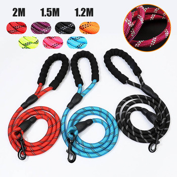 2M Reflective Durable Dog Leash 7 Color Nylon Basic Leashes Medium large Dogs Collar Leashes Lead Rope For Labrador Rottweiler reflective large dog leash nylon rope pet running tracking leashes long lead dog mountain climbing rope for medium large dogs