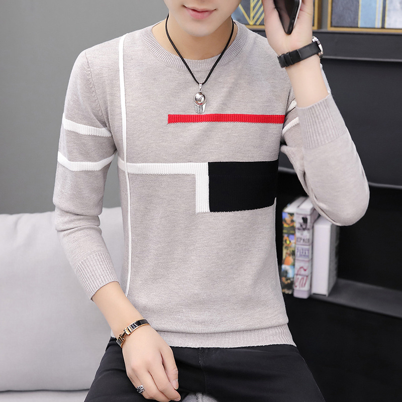 Mens Sweaters Fashion Mens 2019 Clothes New Sweater Men Casual Knitting Sweaters Pullover Stripes Pullovers