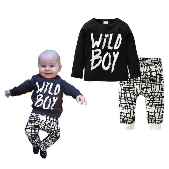 "Newborns ""Like A Boss"" Clothing Set 2 Pcs 4"