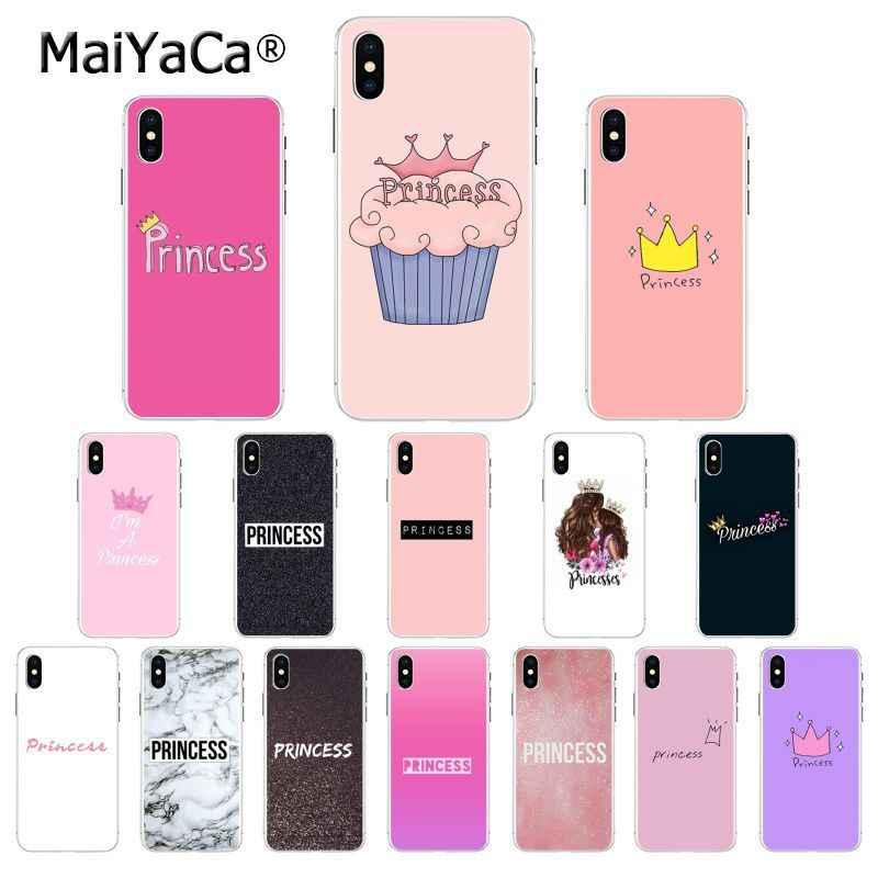Maiyaca Merah Muda Putri Ponsel Cover untuk Apple iPhone 11 Pro 8 7 66S Plus X XS Max 5S se XR Ponsel Kasus
