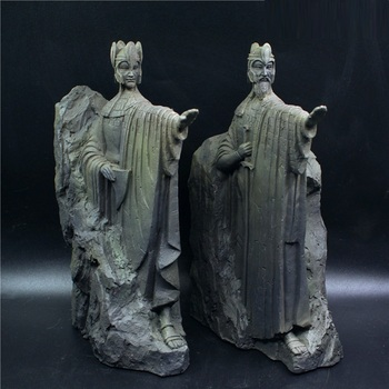 WU CHEN LONG 2Pcs/set Gates of Gondor Bookends Art Sculpture Argonath Figurine Book Ends Resin Crafts Decorations For Home R3605 image