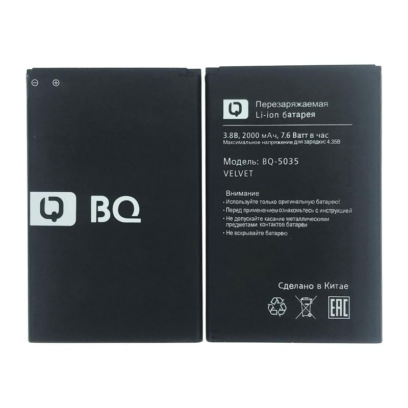 100% Original 2000mAh BQ-5035 Battery For BQ BQS 5035 BQ-5035 Velvet Phone Latest Production High Quality Battery+Tracking Code