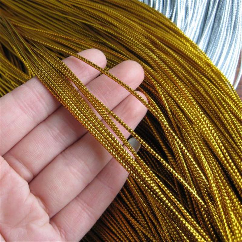Cordel oro; 2 mm; 5 metros