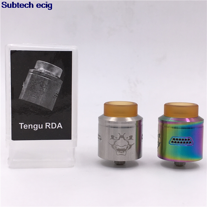 SUB TWO Tengu RDA Tank 24mm Rebuildable Drip Atomizer 510 Thread BF Pin Honeycomb Airflow For Vape Mods Electronic Cigarette