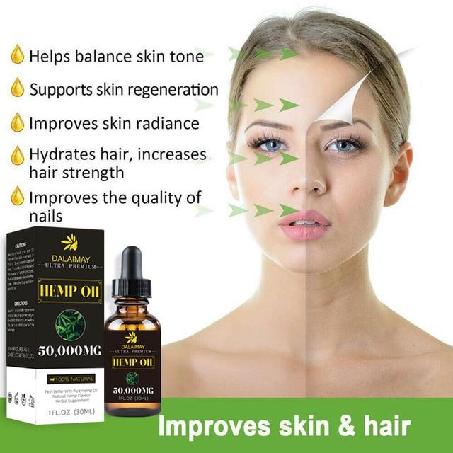 50000mg huile de graines de chanvre 30ml huile essentielle bio gouttes à base de plantes massage corporel huile anti-stress soins de la peau aide au sommeil