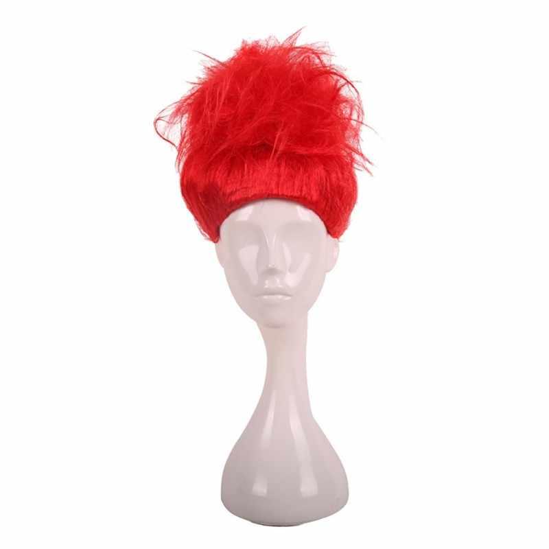 חדש לגמרי טרולים פאה לילדים קוספליי תלבושות כובע פאה עבור תפקיד לשחק חג המולד ליל כל הקדושים ומסיבה שיער פאות