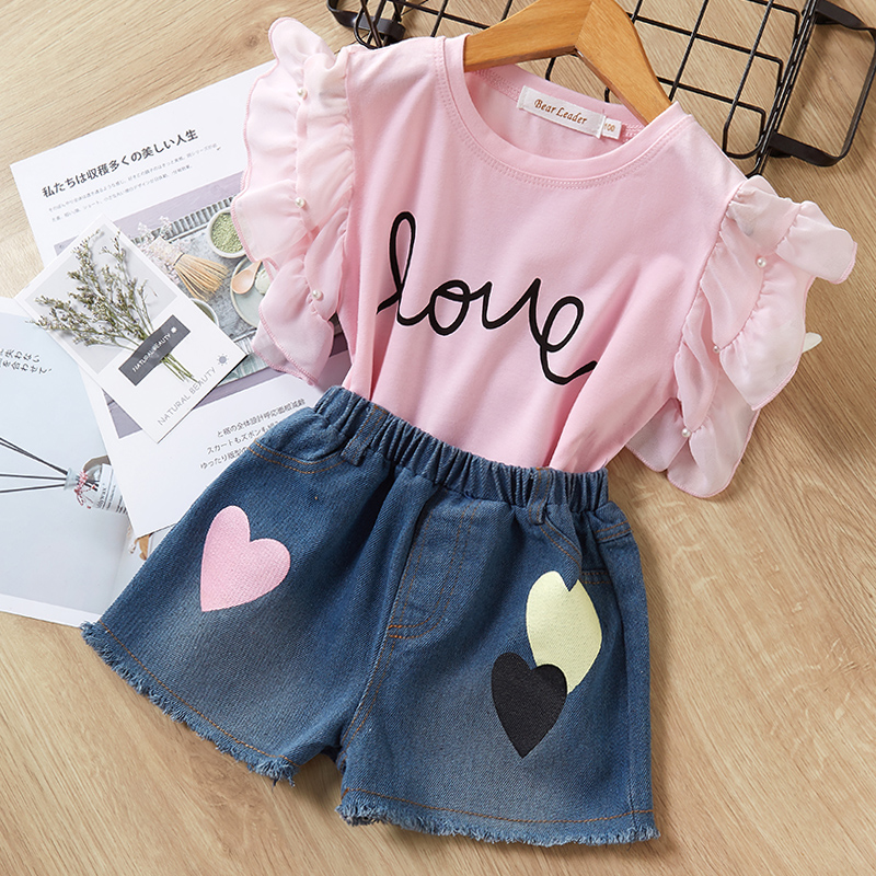 He56fa8bf6bbf480581b9bb1fab57fb6df Menoea Girls Suits 2020 Summer Style Kids Beautiful Floral Flower Sleeve Children O-neck Clothing Shorts Suit 2Pcs Clothes