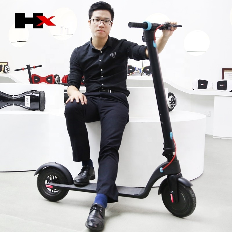 China X7 factory HX X7 off- road 10 inch air wheel urban electric mobility scooter adult foldable electric scooter cheap price
