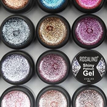 ROSALIND Shiny Platinum Gel Nail Polish Nail Art For Manicure UV Colors Primer Base Set Gel Hybrid Varnish