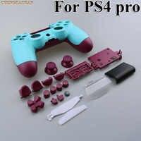 Conjuntos 10 Substituição Completa shell e botões mod kit Para jds 040 JDM 040 4 DualShock PlayStation 4 PS4 Pro controlador Tampa da caixa