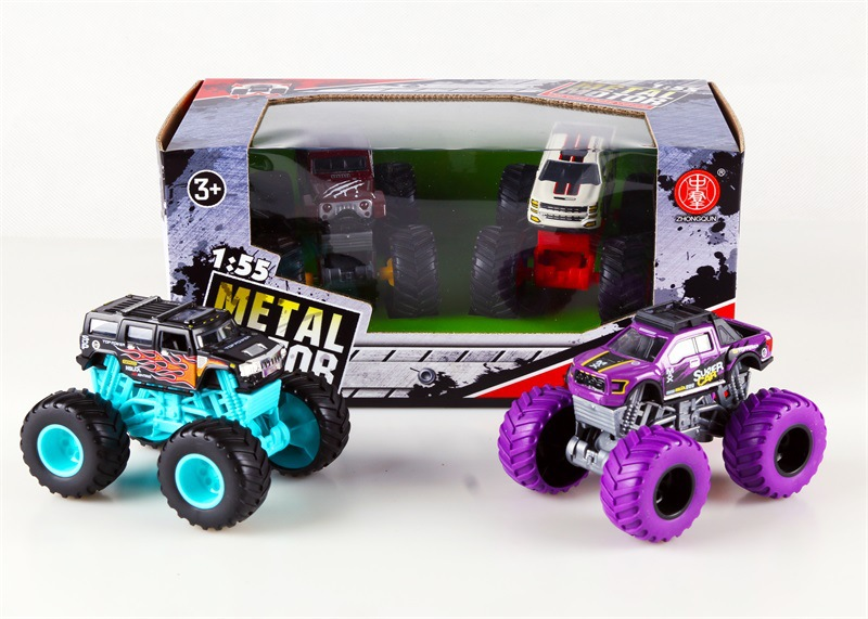 Graffiti Four Wheel Drive Big Foot Off-Road Car Model Children Model Model Car Climbing Toy Car