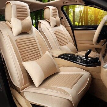GEEAOK Universal Linen Fabric Automoblies car seat cover For Focus Jetta Elantra Cruze Corolla Hamma car accessories styling
