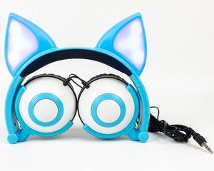 Image 2 - LIMSON kablolu sevimli hayvan tilki kedi kulak kulaklık katlanabilir yetiştirme çocuk kulaklıklar hediye erkek ve kız için