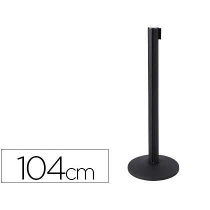 METALIC POST WITH TAPE Retractable POLE 104 CM TAPE 2 MT POST BASE 36 CM DIAMATER