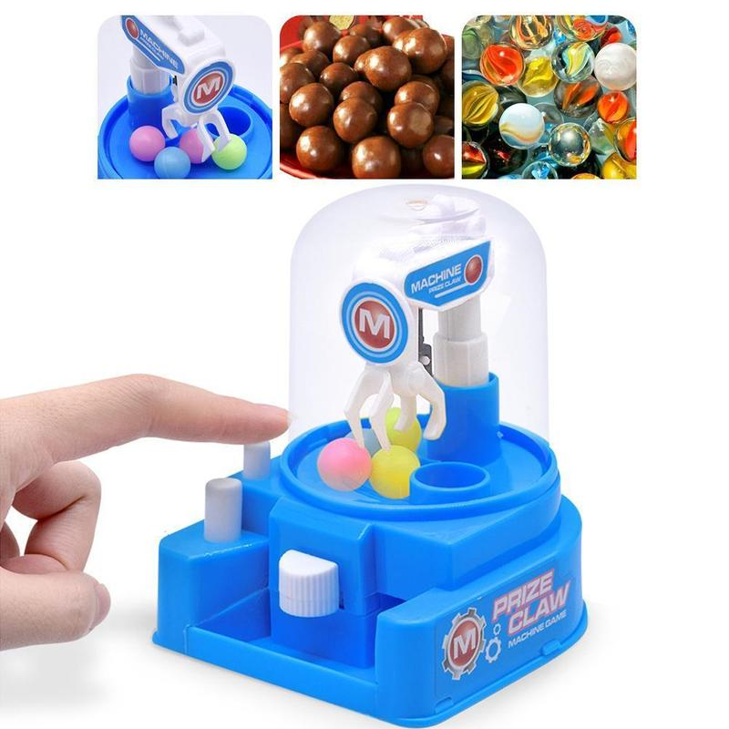 Kids Mini Manual Catching Balls Toy Machine Candy Gripper Interactive Game Children Toy Table Game Family Games