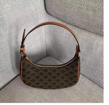 Arc de Triomphe handbags 2020AVA vintage old flower canvas underarm bag shoulder bag недорого