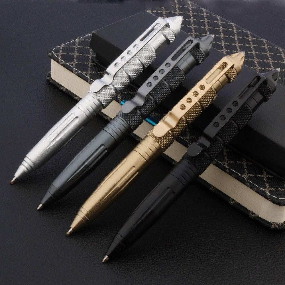 Высококачественная металлическая цветная тактическая ручка для защиты, ручка для инструментов, школьные офисные шариковые ручки
