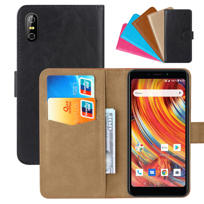 Luxury Wallet Case For teXet TM-5084 Pay 5 4G PU Leather Retro Flip Cover Magnetic Fashion Cases Strap image