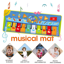 Music Pad Dance Mat Baby Dance Blanket Carpet Multifunction Piano Keyboard Playmat Educational Toys for Kid Gifts