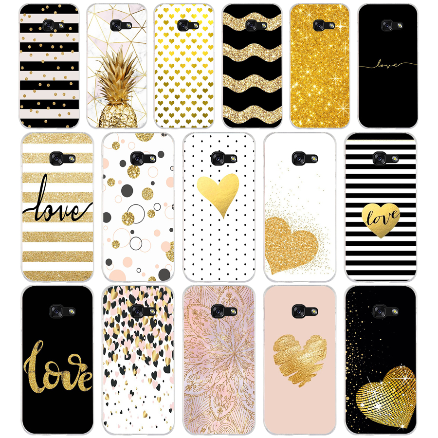 319FG amp yellow gold glitter Soft Silicone Tpu Cover phone Case for <font><b>Samsung</b></font> a3 2016 a5 2017 a6 plus a7 a8 <font><b>2018</b></font> s6 7 <font><b>8</b></font> 9 image