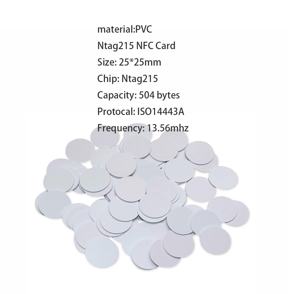 Clearance SaleUltralight-Tags-Labels NTAG RFID 25-Mm-Diameter 100/50pcs Coin-Tag-Key 215 Universal
