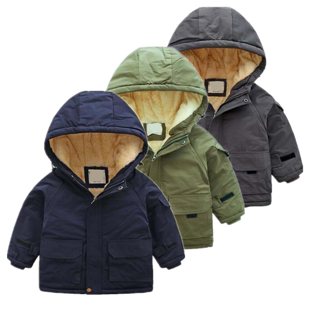 Fashion Girls Down Winter Jackets Hoodies Boys Warm Coats Outerwear Kids Clothes