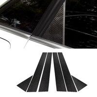 For Audi A3 A4 A6 Q5 Car Carbon Fiber Window B pillar Molding Cover Protective Trim