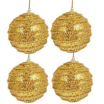 4 sztuk złoty boże narodzenie dekoracji kulki boże narodzenie ozdoby choinkowe boże narodzenie bombki na boże narodzenie Party tanie i dobre opinie CN (pochodzenie) Christmas Baubles Balls