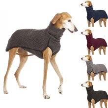 Mais novo gola alta médio grande cão casaco para cães grandes great dane greyhound pitbull roupas para animais de estimação ubranka dla psa