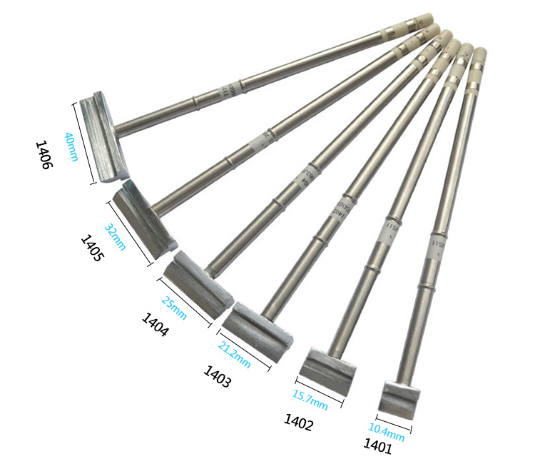 Gudhep T12 Welding Tips spade spatula type Soldering Iron Tips T12 1401 1402 1403 1404 1405 1406 for FX951 <font><b>FM203</b></font> Soldering Iron image