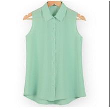 slim vest shirt sleeveless